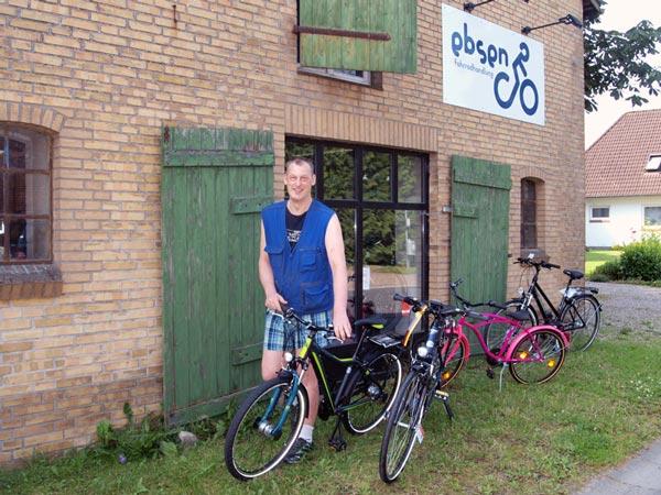 Fahrradvermietung Helmuth Ebsen in Böklund